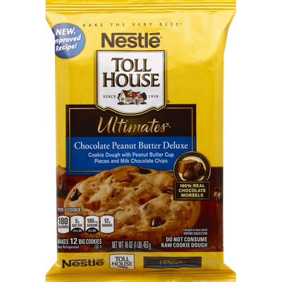 Toll House Cookie Dough, Chocolate Peanut Butter Deluxe