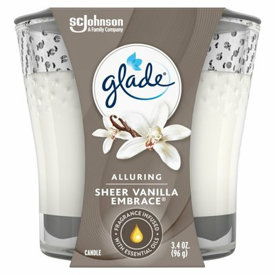 Glade Candle, Sheer Vanilla Embrace