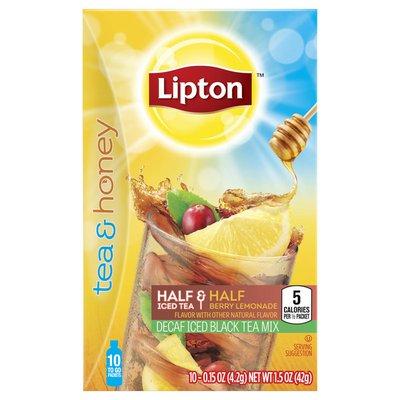 Lipton Decaf Iced Black Tea To-go Packets Berry Lemonade