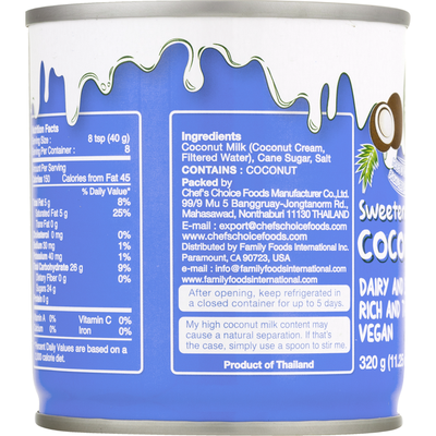 Nature's Charm Coconut Milk, Sweetened, Condensed