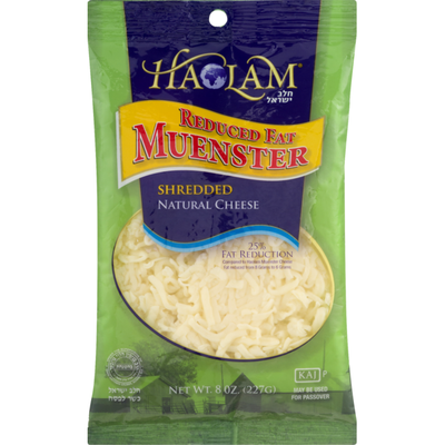 Haolam Reduced Fat Muenster Cheese Shredded