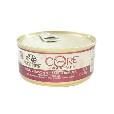Wellness Core Grain Free Classic Pate Smooth Beef, Venison & Lamb Recipe Healthy Food For Adult Cats