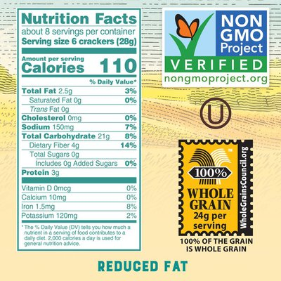 Triscuit Reduced Fat Crackers, Original Flavor, 1 Box