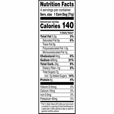 Morning Star Farms Meatless Corn Dogs, Plant Based Protein Vegan Meat, Frozen Meal, Original