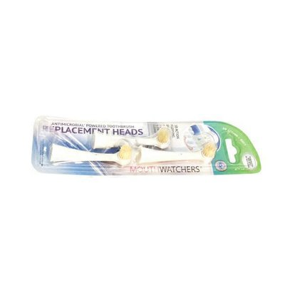 Mouth Watchers Antibacterial Powered Toothbrush Replacement Brush Heads