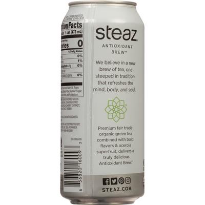 Steaz Green Tea, Zero Calorie, Half & Half Flavored, Organic, Antioxidant Brew