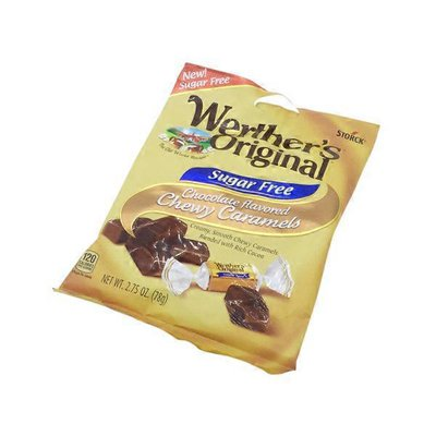 Werther's Original Caramels, Chewy, Sugar Free, Chocolate Flavored