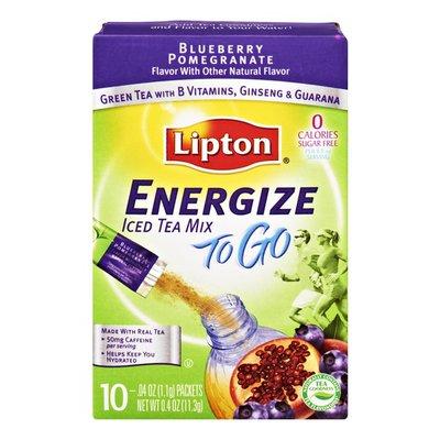 Lipton Energize To Go Blueberry Pomegranate Sugar Free Iced Tea Mix- 10 CT