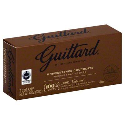 Guittard Baking Bars, Gourmet, Unsweetened Chocolate