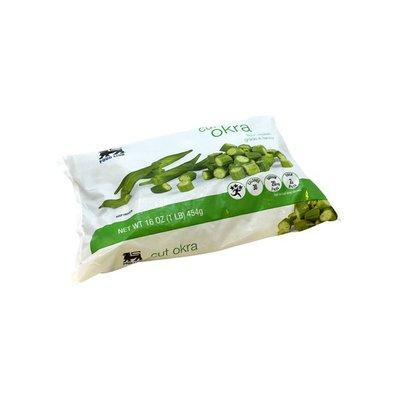 Food Lion Okra, Cut, Fresh Frozen, Grade A Fancy, Bag