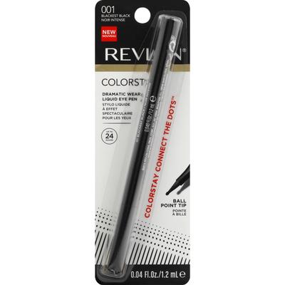 Revlon Liquid Eye Pen, Dramatic Wear, Blackest Black 001, Ball Point Tip