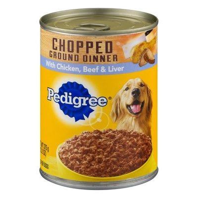 Pedigree Chopped Ground Dinner Combo with Chicken, Liver & Beef Wet Dog Food