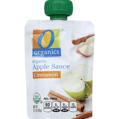 O Organics Apple Sauce, Organic, Cinnamon