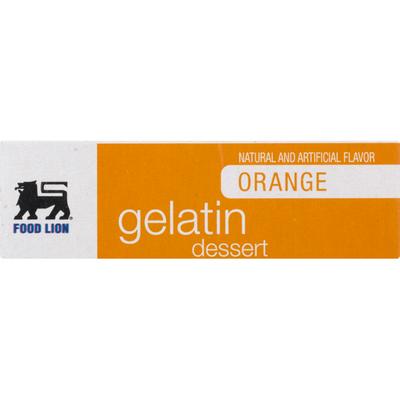 Food Lion Gelatin Dessert, Orange, Box