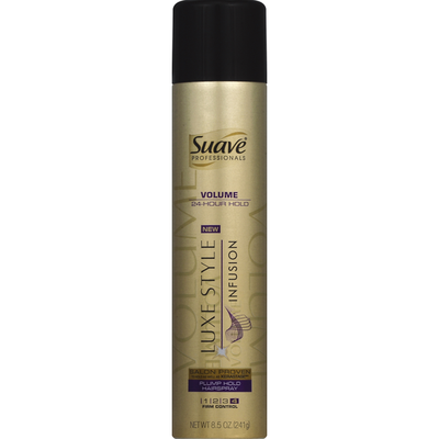 Suave Hairspray, Plump Hold, Volume
