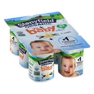 Stonyfield® Organic YoBaby Vanilla Whole Milk Yogurt with Probiotics