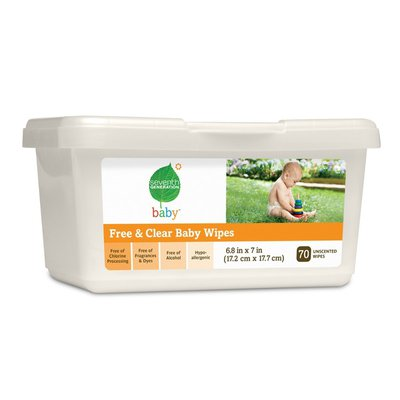 Seventh Generation Baby Free & Clear Baby Wipes Tub