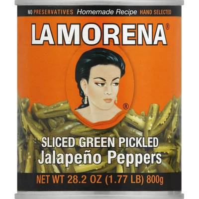 La Morena Sliced Green Pickled Jalapeno Peppers