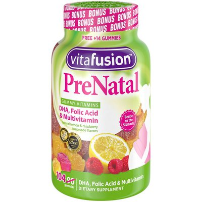 VitaFusion Lemon & Raspberry Lemonade PreNatal DHA, Folic Acid & Multivitamin Vitafusion Lemon & Raspberry Lemonade PreNatal DHA, Folic Acid & Multivitamin
