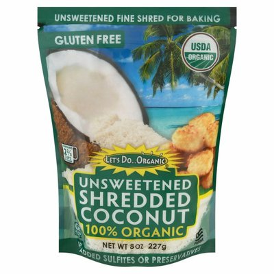 Let's Do Organic Shredded Coconut, Unsweetened