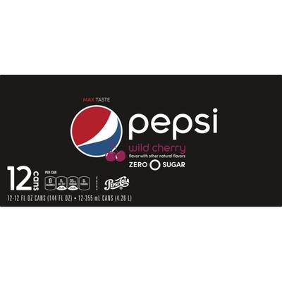 Pepsi Zero Sgr Wld Chrry 12FlOz12Pk