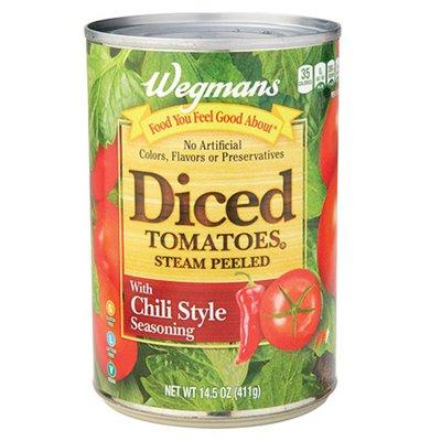 Wegmans Diced Tomatoes With Chili Style Seasoning