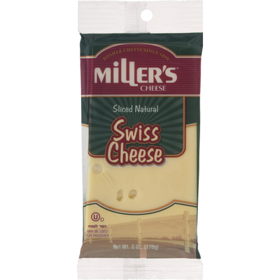 Miller's Cheese Cheese Sliced Natural Swiss Cheese