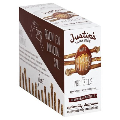 Justin's Snack Pack, Maple Almond Butter with Pretzels