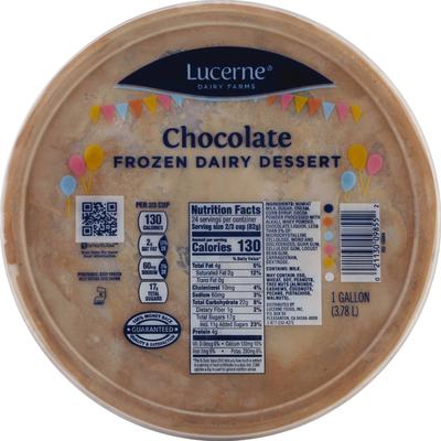 Lucerne Frozen Dairy Dessert, Chocolate