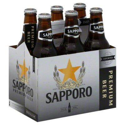 Sapporo 6-Pack 12oz Bottles