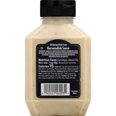 Boar's Head Sauce, Horseradish, Pub Style