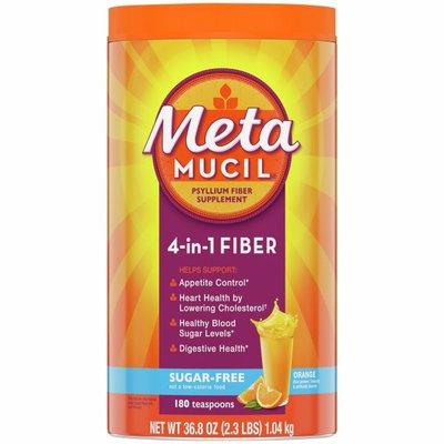 Metamucil Fiber Supplement by Meta Orange Smooth Sugar Free Powder Laxative