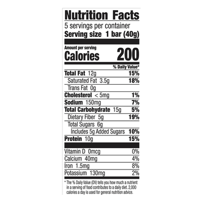 Nature Valley Chewy Bars, Protein, Peanut, Almond & Dark Chocolate, 5 Pack