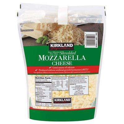 Kirkland Signature Mozzarella Cheese Low Moisture Part Skim Shredded