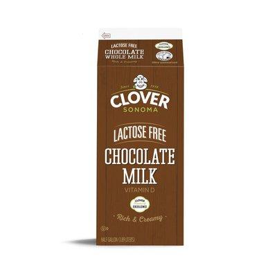 Clover Sonoma Lactose Free UHT Whole Chocolate Milk Half Gallon