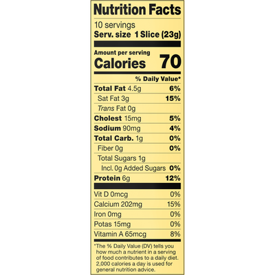 Alpine Lace 25% Reduced Fat Deli Thin Swiss Cheese