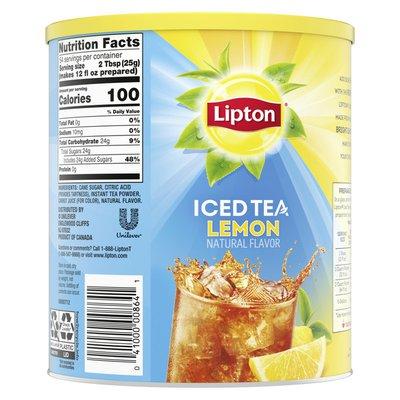 Lipton Black Iced Tea Mix Lemon