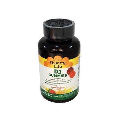 Country Life D3 Gummies 1000 I.u. Dietary Supplement, Strawberry & Orange