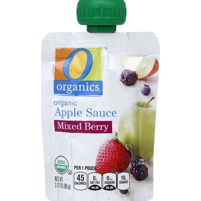 O Organics Apple Sauce, Organic, Mixed Berry