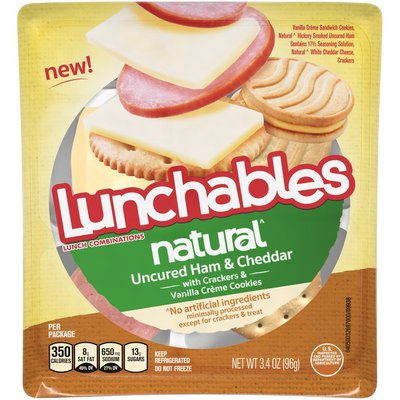 Lunchables Uncured Ham & Cheddar Cheese Snack Kit with Crackers & Vanilla Creme Cookies