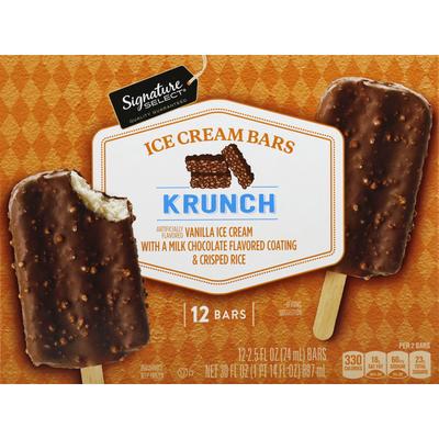 Signature Select Ice Cream Bars, Krunch