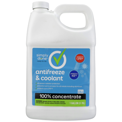 Simply Done 100% Concentrate Antifreeze & Coolant