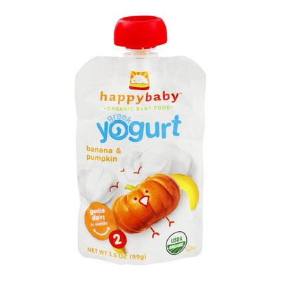 Happy Baby Happy Baby Organic Baby Food Stage 2 Greek Yogurt Banana & Pumpkin