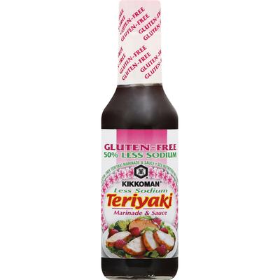 Kikkoman Marinade & Sauce, Gluten-Free, Less Sodium, Teriyaki