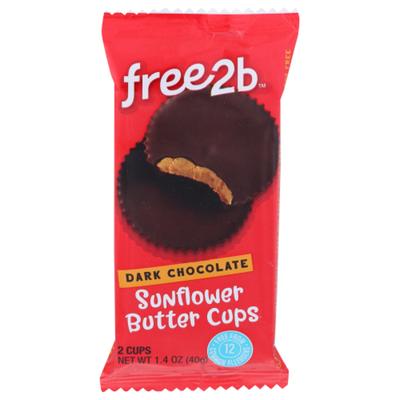 free2b Sunflower Butter Cups, Dark Chocolate