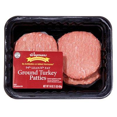 Wegmans 94/6 Ground Turkey Patties