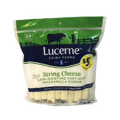 Lucerne Mozzarella Low-moisture Part-skim String Cheese