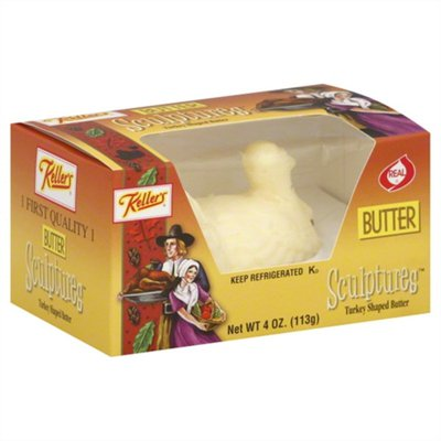 Keller's Butter Sculptures Turkey Shaped Butter