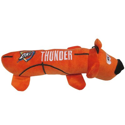 Pets First Large NBA Oklahoma City Thunder Tube Bear Plush Toy for Dogs