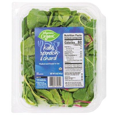 Wegmans Organic Kale, Spinach & Chard